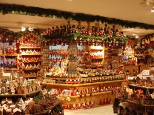 Christmas shop in St Wolfgang. At this time of year St Wolfgang and the