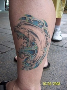 For many people, dolphin tattoos may symbolize several things; wisdom,