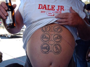 I've really developed a helluva six-pack for an old man.