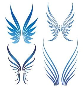 angel wing tattoos are very popular with girls
