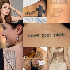 angelina jolie tattoos in wanted