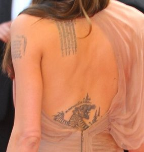 Slideshow: Angelina Jolie and her tattoos