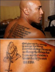 This tattoo will give him the strenght and nisdom not to get another bad