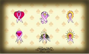 choose a tattoo design from any of our pre-designed pink ribbon tattoos