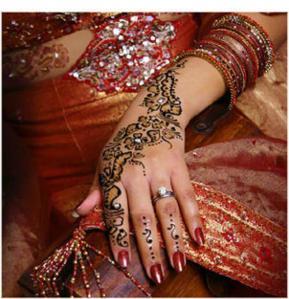 Labels: bridal henna tattoo
