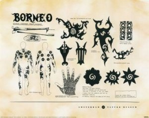 Borneo Tribal tattoo Art