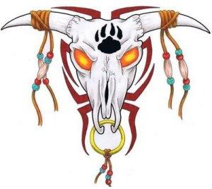 Source url:http://skull-tattoo.blogspot.com/2009/05/cow-and-bull-tattoo-