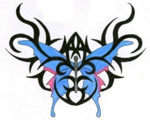 image butterfly tribal tattoo design with Combining these two tattoo designs