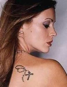 Alyssa Milano Celebrity Shoulder Tattoo Picture