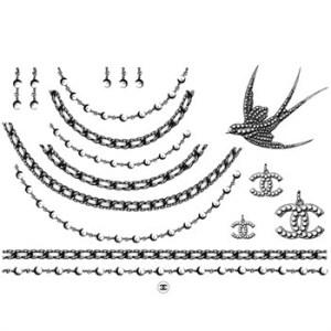 Chanel Temporary Tattoo design