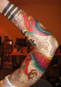 Chinese Sleeve Dragon Tattoo