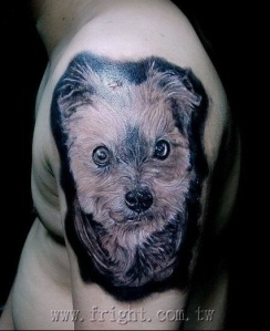 dog tattoo design