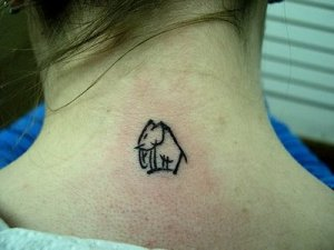 Elephant tattoo-love your animals