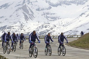 As you can see, team captain Thierry Henry takes the lead in this bicycle