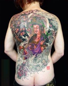 Buddha Tattoo on His Back