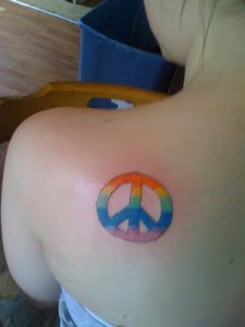 Peace Tattoo Design In Back Body. Posted by Zanisa. Labels: Peace Tattoo