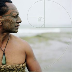 A maori man with the tattoo of KORU, the symbol of Creation.
