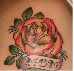 mom roses tattoo