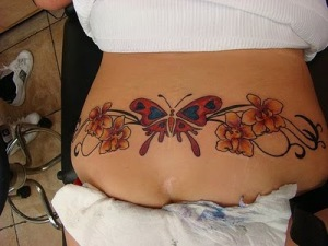 sexy tramp stamp tattoos with orchid tattoos