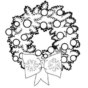 Color These Christmas Wreath Coloring Pages With Beautiful Colors And