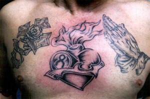 Praying Hands Cross Tattoo Designs