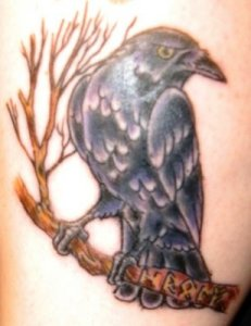 Raven in a Branch Tattoo [Image Credit: T. S.]