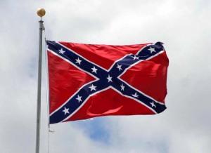 Redneck with Confederate Flag tattoo isn't afraid