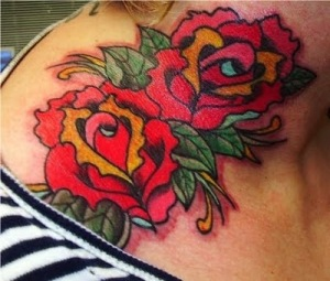 Labels: Red Rose Tattoo - Neck Tattoo