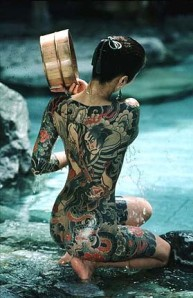 Sexy Girl Yakuza Gangsta Tattoo