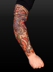 Complete Sleeve tattoos, in contrast to solitary tattoos, include lots of