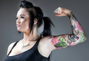 Strenght sleeve tattoo design pitures