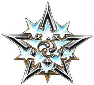 Moon Star Tattoo. If you like star tattoos for their own sake if they are