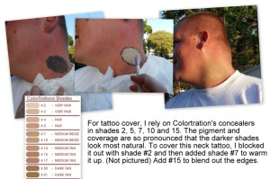 Labels: bridal makeup, tattoo concealer, tattoo cover, tattoo cover up
