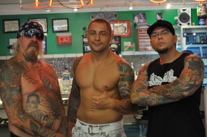 That's right, MMA star Thiago Silva gets inked at Tattoo Blues!