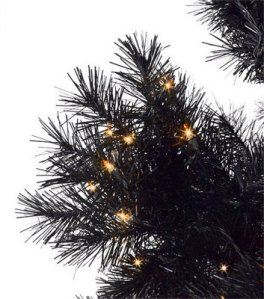 If you do want a black Christmas tree with orange lights,