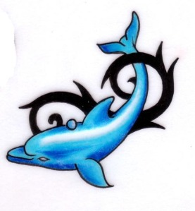 This is deff one of my fav dolphin tattoos, nicely placed on the arm and the