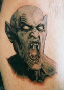 Surprisingly, there are a lot of styles of vampire tattoos, with everything