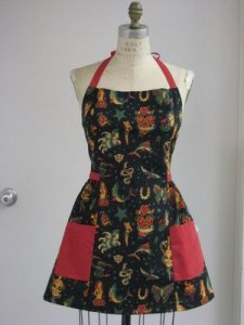 Vintage Inspired Tattoo Full Apron (my favorite)