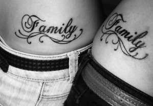 This word tattoo refers to someone who you want to represent by name.