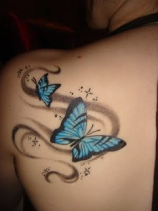 Butterfly tattoos are some of the most feminine tattoos out there for women!