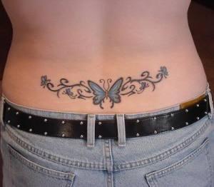 butterfly lower back tattoo, women tattoos sexy girls