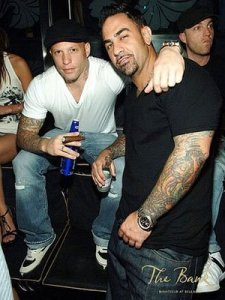Ami James and Chris Nunez in Bank Nightclub. Posted by tattoo art at 4:26 AM