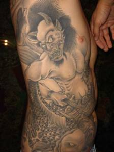 celebrity art tattoos: Demon Tattoos