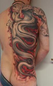 Japanese Tattoo Gallery: Japanese Dragon Tattoo Art - Back Tattoo