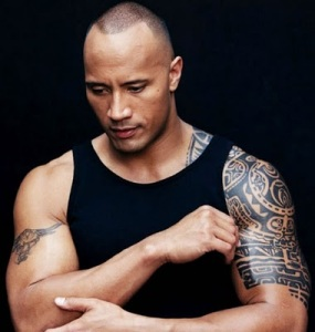 "Dwayne Johnson (aka ""The Rock""), a Samoan actor has a Marquesan tattoo on"