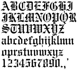 tattoos font