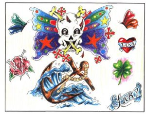Fashion With Tattoos Design | Tattoo Gallery Free tattoo flash designs 81