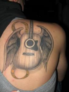 Wing and Guitar Tattoo Design | TATTOO DESIGN