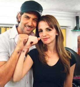 Actor Hrithik Roshan Tattoo | Hrithik Susanne Roshan Tattoo