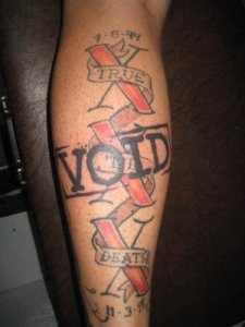 "I just did this ""cover up"" of a straight edge tattoo:"